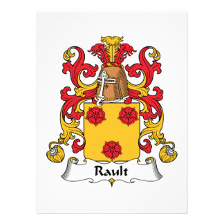 Rault Family Crest Personalized Invitations