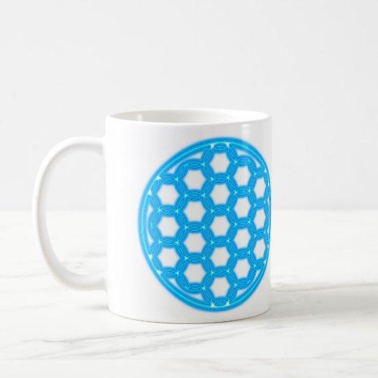 raum-zeit-koordinate2, flower the life konstrukti coffee mug