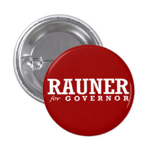 RAUNER FOR GOVERNOR 2014 PINBACK BUTTON