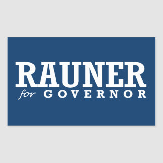 RAUNER FOR GOVERNOR 2014 RECTANGULAR STICKER