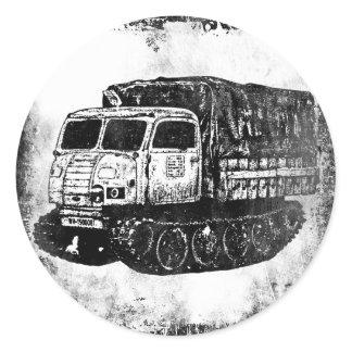 Raupenschlepper Ost Classic Round Sticker
