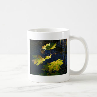 Ravaged Golden Autumn Leaves Basic White Mug