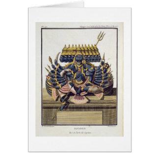 Ravana, demon king of Ceylon, from 'Voyage aux Ind Card