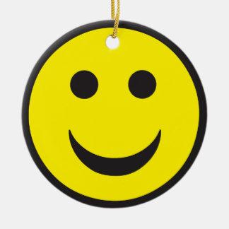 Rave Acid House Smiley Ceramic Ornament