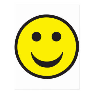 Rave Acid House Smiley Postcard