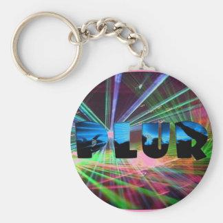 Rave Flash PLUR Keychain