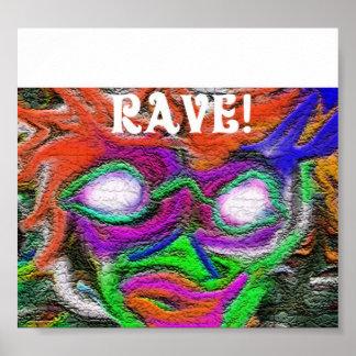 Rave flyer poster