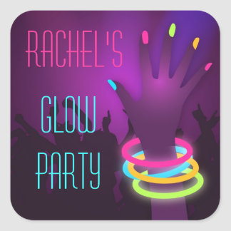 Rave Glow in the Dark Party Stickers