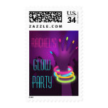 Rave Glow Party Postage Stamps