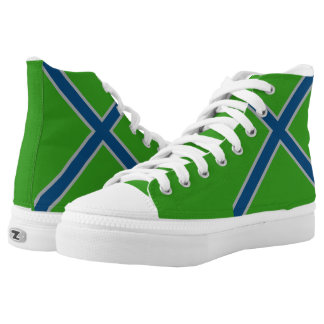 Rave Green and Seattle Blue Hi Top