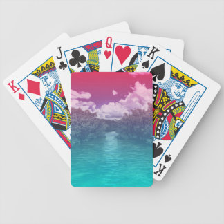 Rave Lovers Key Trippy Pink Blue Ocean Bicycle Playing Cards