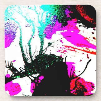 Rave neon party abstract coasters