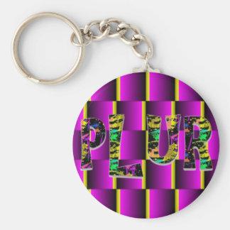 Rave Paint Splash PLUR Key Chain