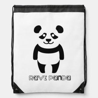 Rave Panda Cinch Bag