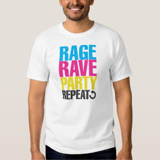 RAVE RAGE PARTY REPEAT DRESSES