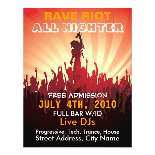 Rave Riot 2 Music Flyer flyer