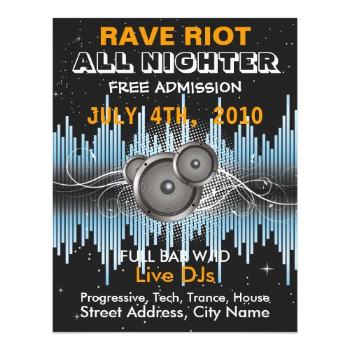 Rave Riot Music Flyer flyer