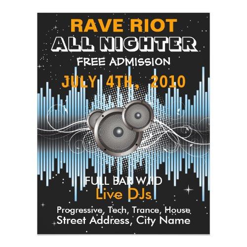 Rave Riot Music Flyer flyer
