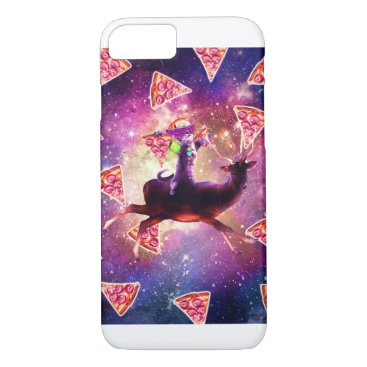 Rave Space Cat On Deer Unicorn - Pizza iPhone 8/7 Case