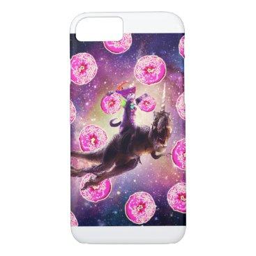 Rave Space Cat On Dinosaur Unicorn - Donut iPhone 8/7 Case