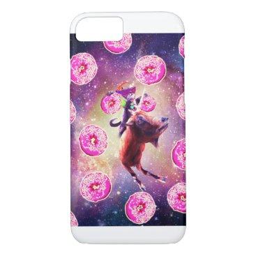Rave Space Cat On Goat Unicorn - Donut iPhone 8/7 Case