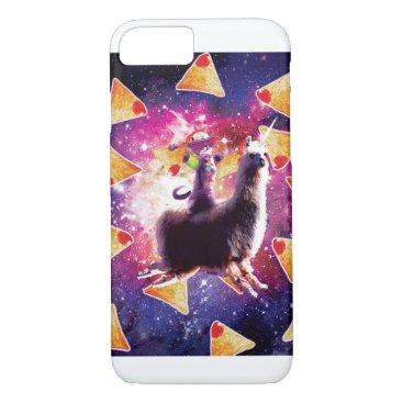 Rave Space Cat On Llama Unicorn - Nachos iPhone 8/7 Case