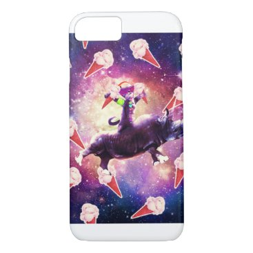 Rave Space Cat On Rhino Unicorn - Ice Cream iPhone 8/7 Case