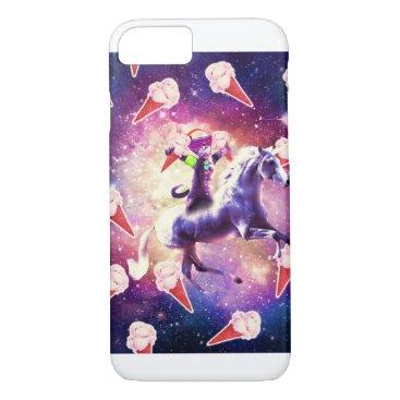 Rave Space Cat On Unicorn - Ice Cream iPhone 8/7 Case