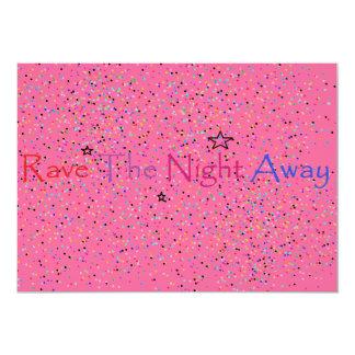 Rave The Night Away Custom Announcement