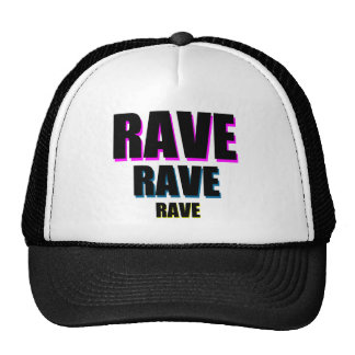 Rave x 3 hats