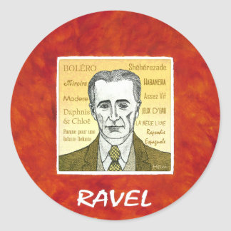 Ravel Classic Round Sticker