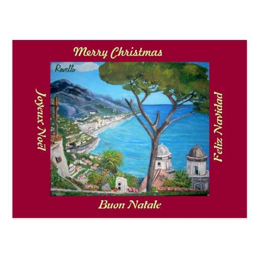 Ravello, Italy Merry Christmas Postcard