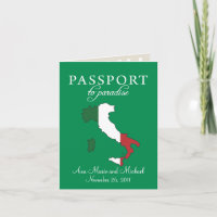 Ravello Italy Passport Wedding Invitation
