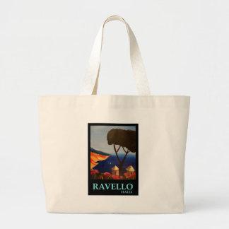 Ravello Salerno Italy View of Amalfi Coast Large Tote Bag