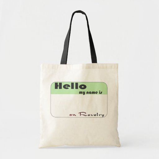 Ravelry Name Budget Tote Canvas Bag