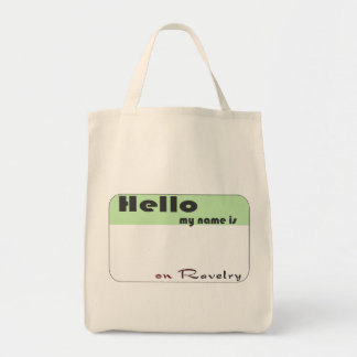 Ravelry Name Grocery Tote