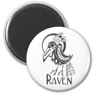 Raven 2 Inch Round Magnet