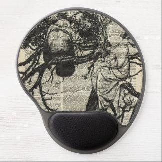 Raven and Child on a Tree Old Vintage Illustration Gel Mouse Pad