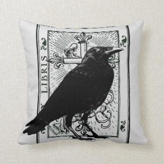 Raven and Fleur Du Lys Cross Throw Pillow