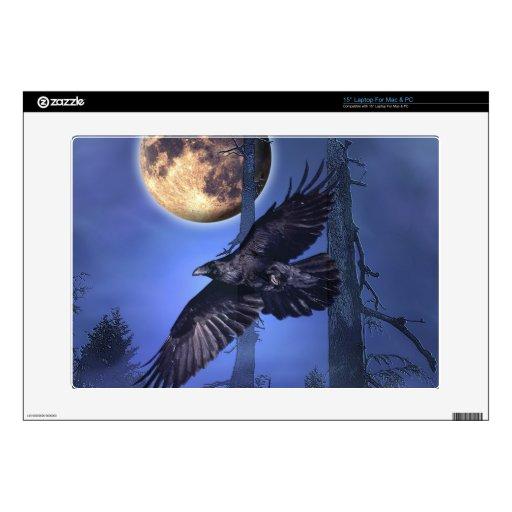 "Raven and Moon Fantasy LaptopSkin Skin For 15"" Laptop"