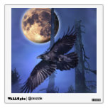 Raven and Moon Fantasy Window or Wall Decal