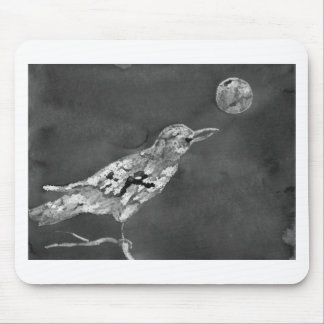 Raven and Moon Mouse Pad