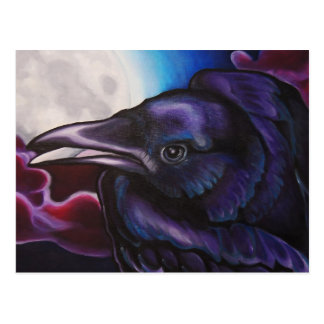 Raven and Moon Post Cards