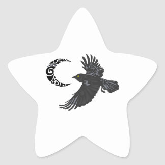 RAVEN AND MOON STAR STICKER