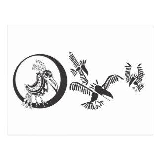 Raven and shadows postcard