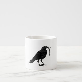 Raven and Skeleton Key Espresso Cup