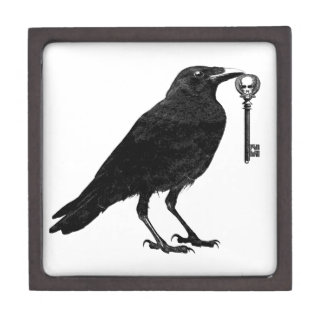 Raven and Skeleton Key Wood Box