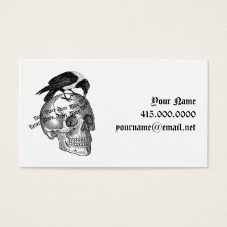 Raven and Skull Blogger Card