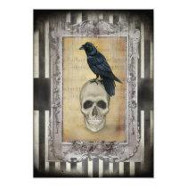 Raven and Skull Halloween Card