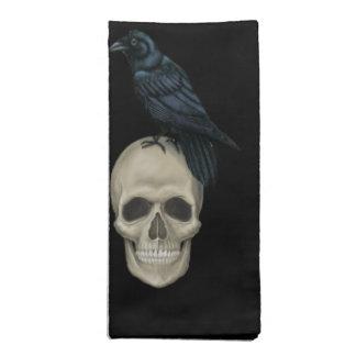 Raven and Skull Napkin